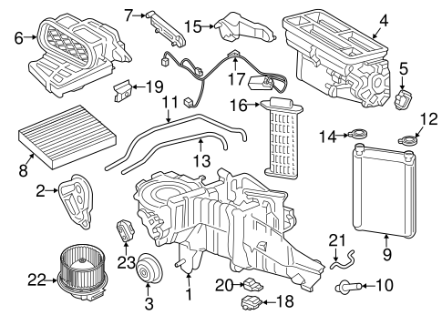 Evaporator & Heater Components for 2017 Ford F-350 Super