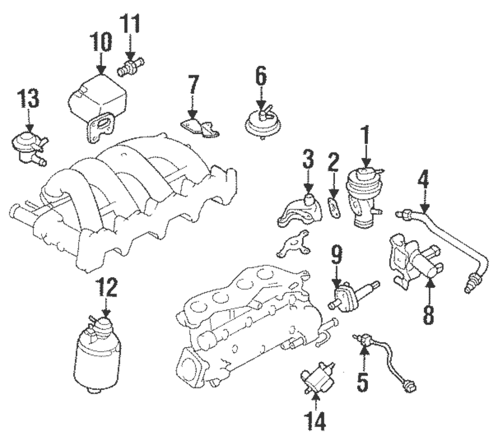 99-04 Nissan Frontier Xterra Vent Control Solenoid OEM NEW