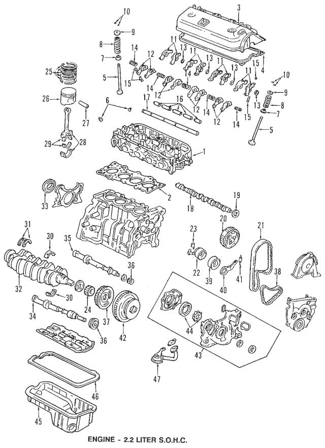 1992-1996 Honda PRELUDE COUPE Piston Set A (Std) 13010-P12