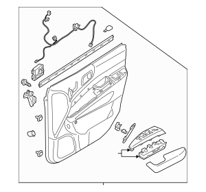 Buy this Genuine 2014 Kia Sedona Door Trim Panel 82308