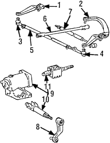 Genuine OEM Steering Gear & Linkage Parts for 1985 Toyota
