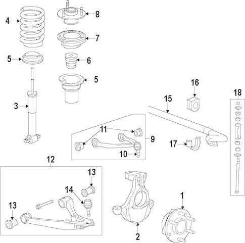 OEM 2015 Chevrolet Silverado 1500 Suspension Components