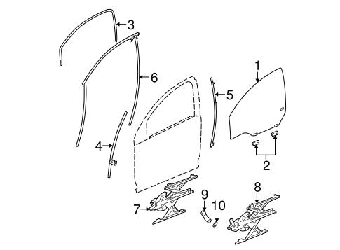 FRONT DOOR Parts for 2004 Saturn Ion