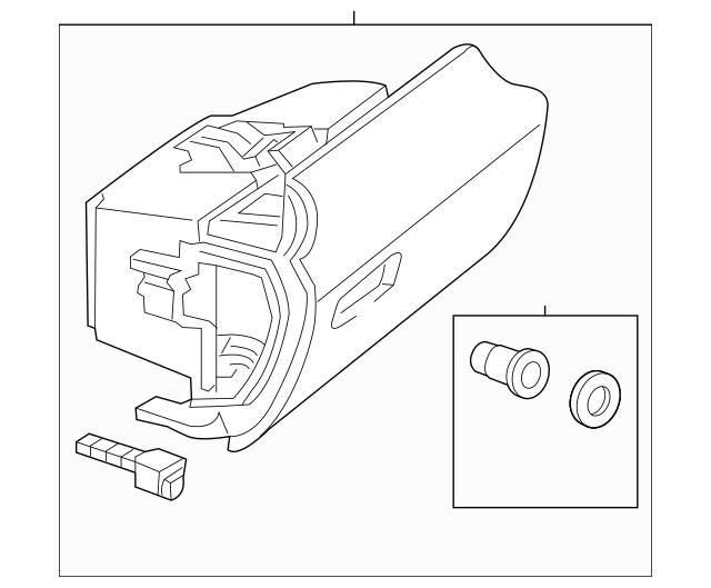 2012-2016 Mercedes-Benz Glove Box Assembly 172-680-02-91