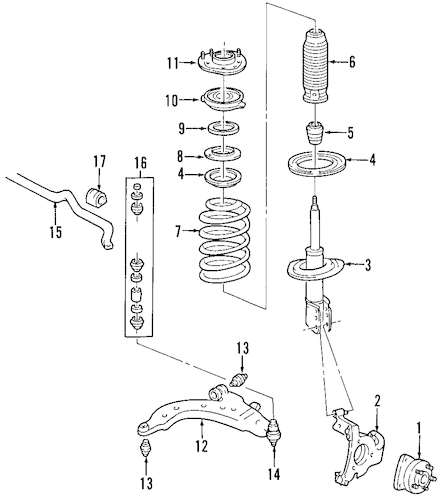 SUSPENSION COMPONENTS for 2008 Chevrolet Impala