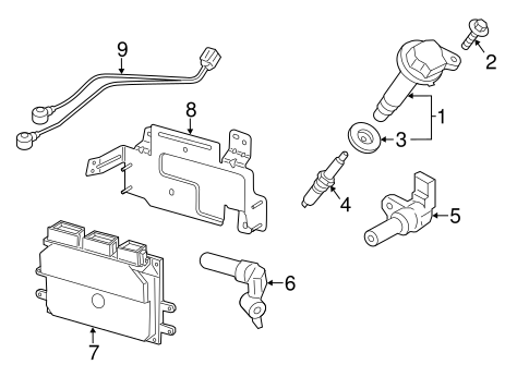 Ignition System for 2016 Ford Transit-150