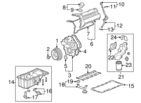 ENGINE PARTS for 2005 Cadillac STS (Base)