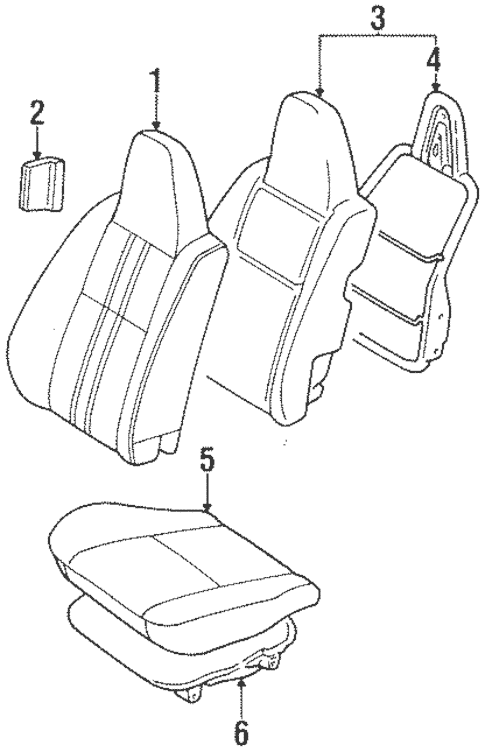 Genuine OEM Front Seat Components Parts for 1996 Toyota