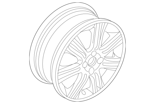 2009-2011 Honda FIT 5-DOOR Disk, Aluminum Wheel (16X6J