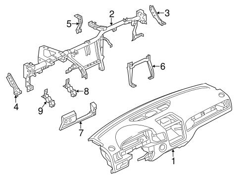 Instrument Panel for 2014 Volkswagen Touareg