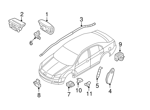 AIR BAG COMPONENTS for 2006 Ford Fusion