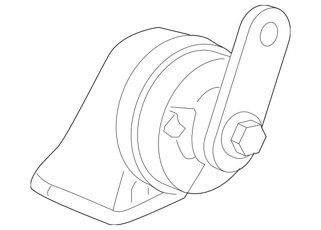 2009-2011 Honda ELEMENT 5-DOOR Horn Assembly (Low) 38100