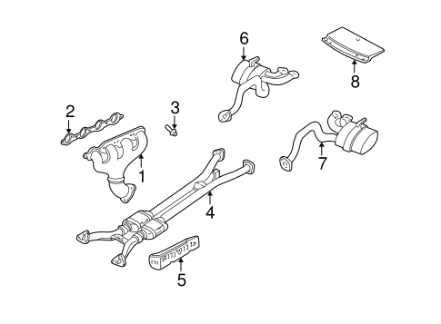 Exhaust Components for 1999 Chevrolet Corvette