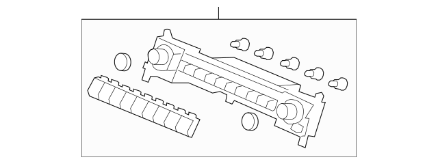 2010 Honda Control Assembly, Heater *NH699L* (Neutral Mat
