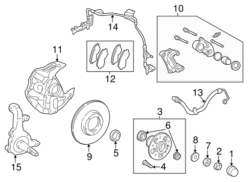 Genuine OEM Front Brakes Parts for 2003 Toyota Tacoma Base