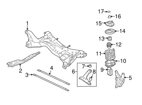 Suspension Components for 2003 Mitsubishi Lancer