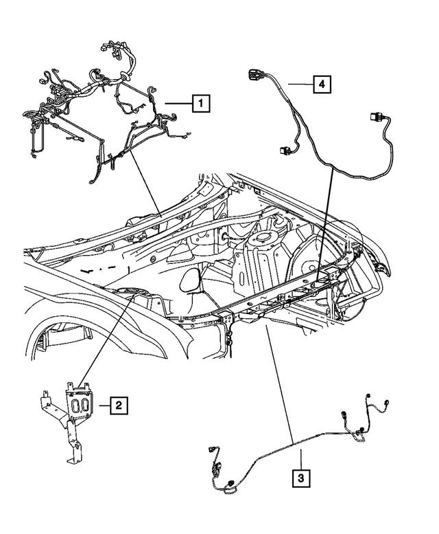 2015-2020 Dodge Challenger Front End Lighting Wiring