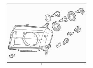 2012-2015 Honda PILOT 5-DOOR Headlight Assembly, R 33100
