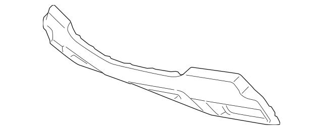 Acura Garnish, Front Bumper Face Skid *NH739M* (Dark
