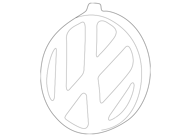 NEW OEM VW Volkswagen 1999-2002 Cabrio VW Logo Emblem 3B0