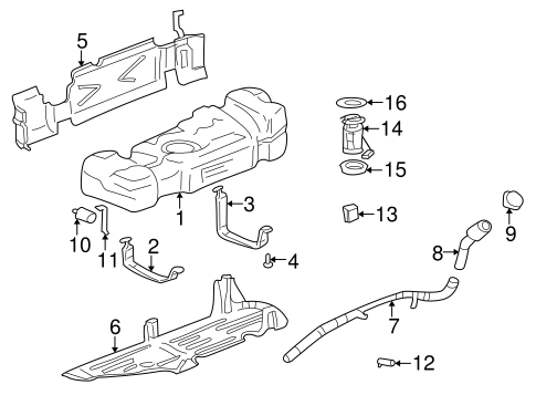 OEM FUEL SYSTEM COMPONENTS for 2004 Buick Rainier
