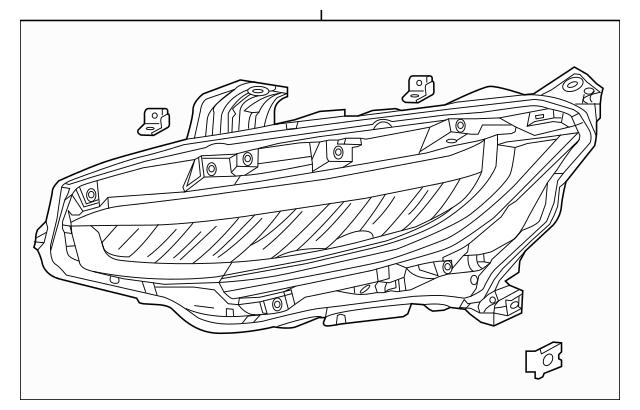2018-2019 Honda CIVIC 5-DOOR Headlight Assembly, L 33150