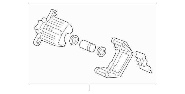 Genuine OEM Caliper Sub-Assembly, L Rear (RMD) Part# 43019