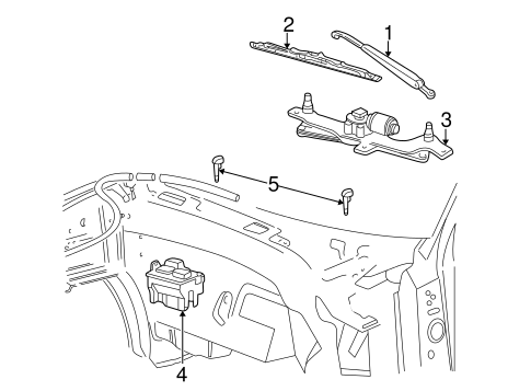 Wiper & Washer Components for 2006 Lincoln Mark LT