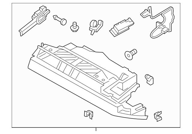 OEM Porsche Glove Box Assembly Part# 991-552-204-15-A11