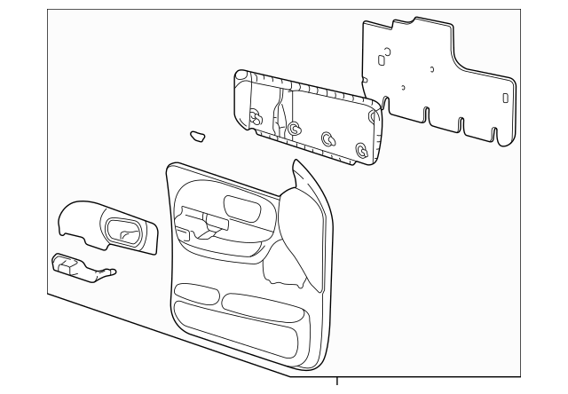 Door Trim Panel for 2001 Ford F-150|YL3Z1623943AAB : Quirk