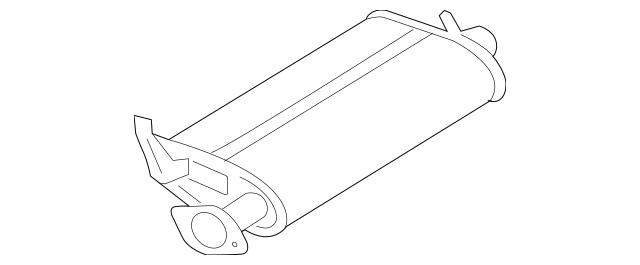 Buy this Genuine 2007-2009 Mitsubishi Galant Muffler