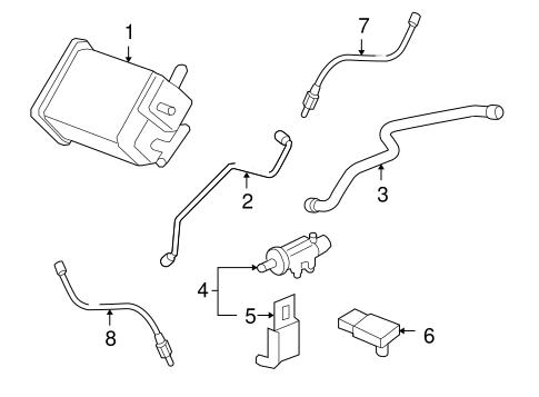 OEM 2007 Chevrolet Impala Emission Components Parts
