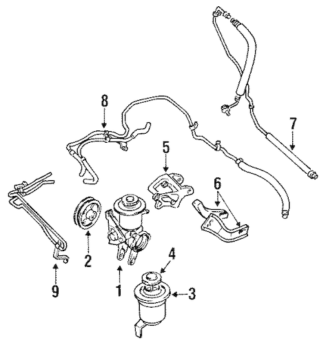 Genuine OEM Pump & Hoses Parts for 1991 Toyota Celica GT