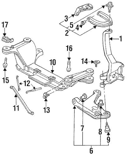 SUSPENSION COMPONENTS for 1996 Pontiac Firebird (Trans Am)