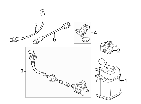 EMISSION COMPONENTS for 2014 Buick Encore