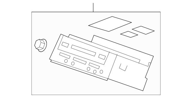 Tuner Assembly, Radio (Pioneer) (3PR2) (AM/FM/6DVD/XM