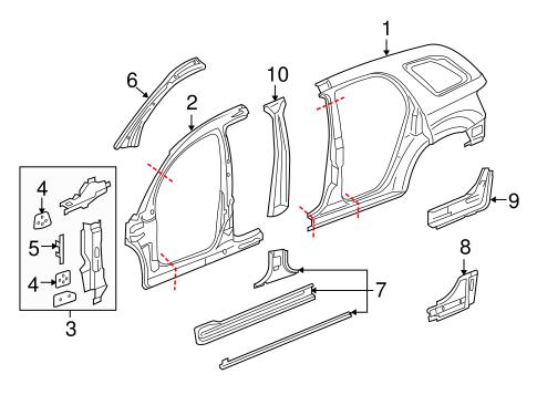 OEM 2009 Pontiac Torrent Hinge Pillar Parts