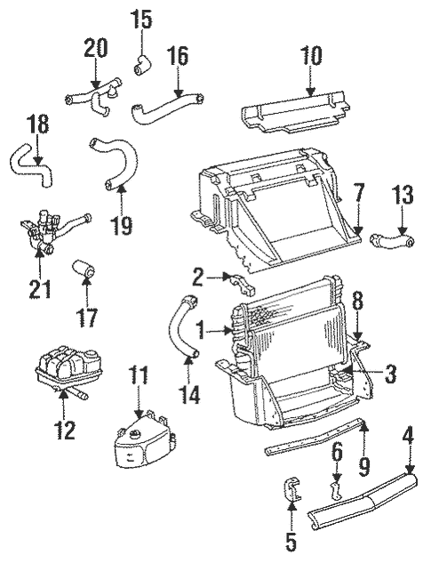 Radiator & Components for 1995 Chevrolet Corvette (Base