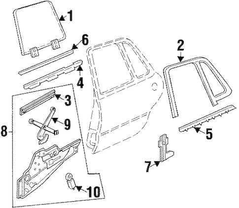 REAR DOOR for 1999 Buick LeSabre