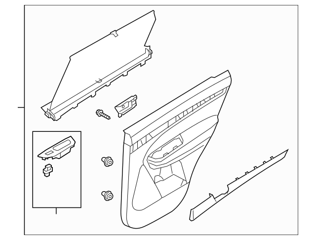 Buy this Genuine 2014-2015 Kia Sorento Door Trim Panel