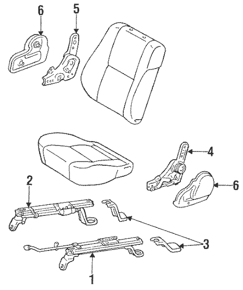 Genuine OEM Manual Seat Tracks & Components Parts for 1994