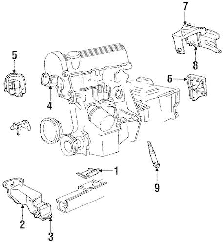 ENGINE MOUNTING for 1994 Dodge Spirit