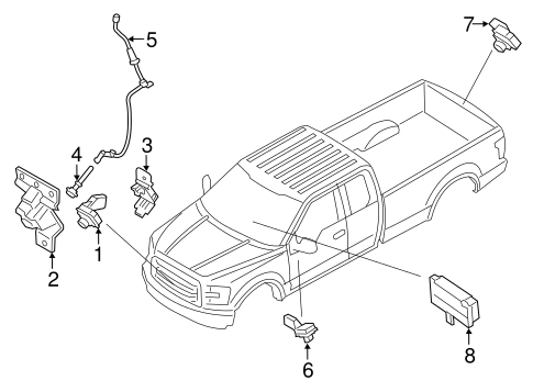 ELECTRICAL COMPONENTS for 2015 Ford F-150