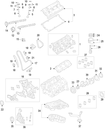 Genuine OEM OIL PUMP Parts for 2011 Toyota Tacoma Base