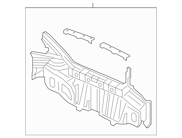 2014-2015 Honda CIVIC COUPE Panel, Rear 66100-TS8-A01ZZ