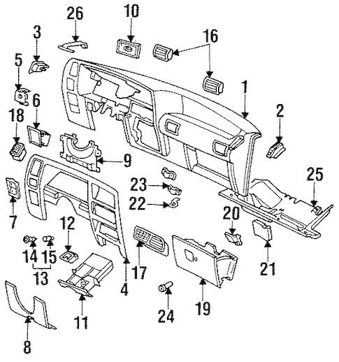 Instrument Panel for 1993 Ford Ranger