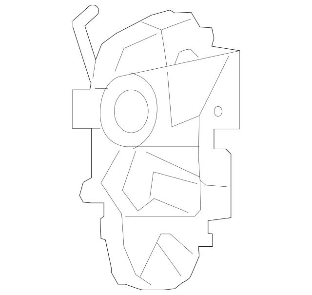 2009-2014 Acura Latch Assembly, L Rear Door Power 72650