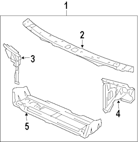 RADIATOR SUPPORT for 1997 Buick LeSabre