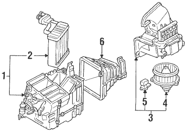 1992-2000 Mitsubishi Montero Heater Core MN188337