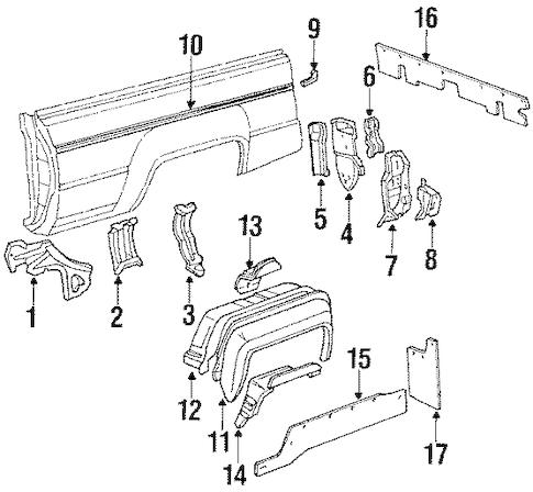 INNER COMPONENTS for 1988 Toyota 4Runner